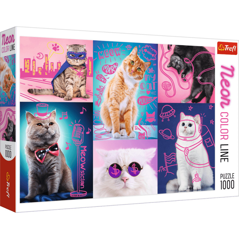 CATS, NEON COLOR LINE